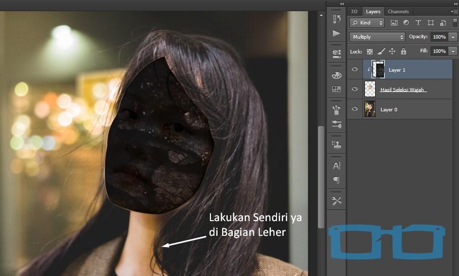 Hasil Awal Edit Foto Zombie Paling Mudah