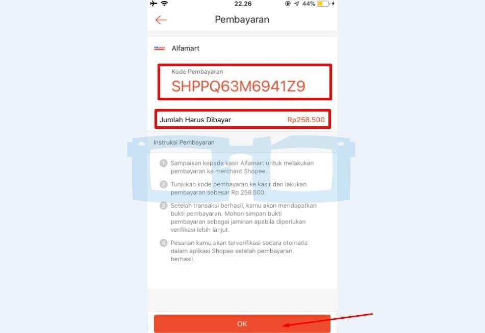 Kode Pembayaran Belanja di Shopee Lewat Alfamart