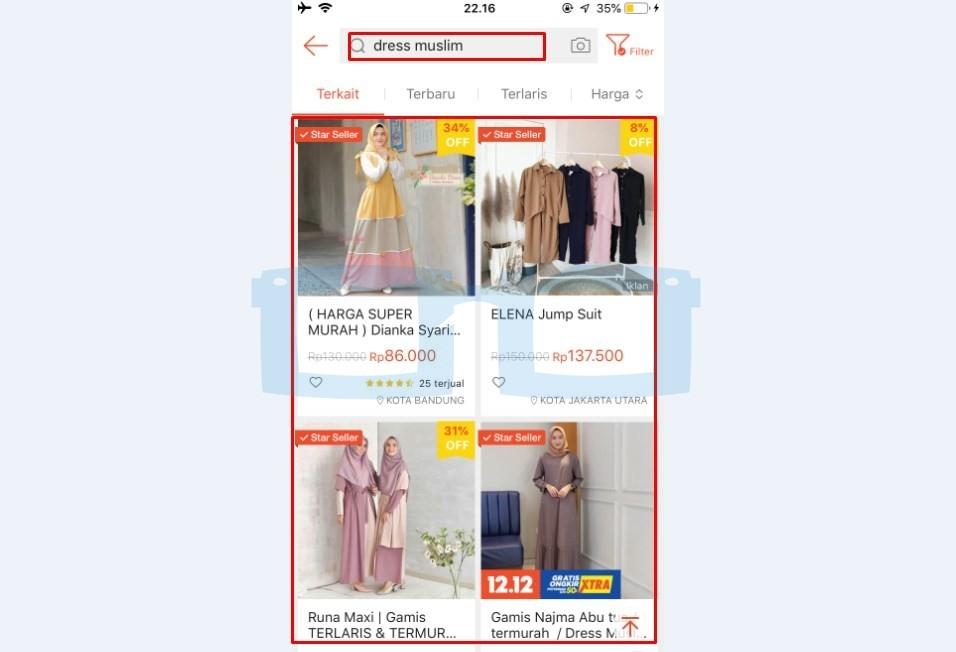 Pilih Barang Shopee yang Dibeli