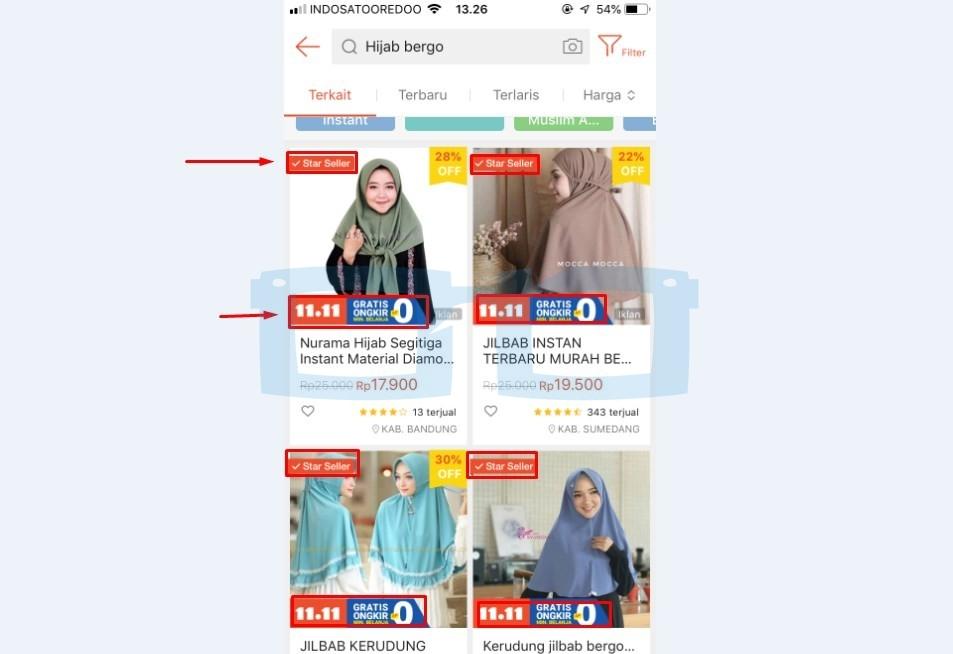 Pilih Produk dari Toko Star Seller Shopee dan Gratis Ongkir