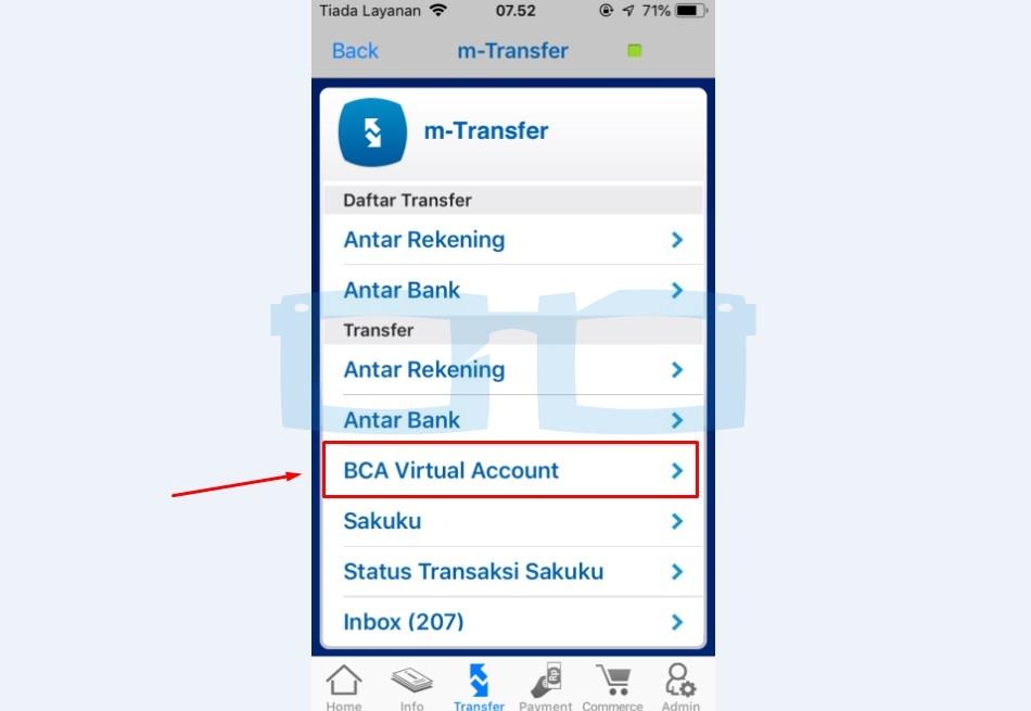 Pilih BCA Virtual Account untuk Top Up Link Aja