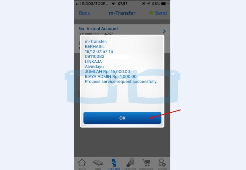 Top Up Link Aja Lewat mBanking BCA Berhasil