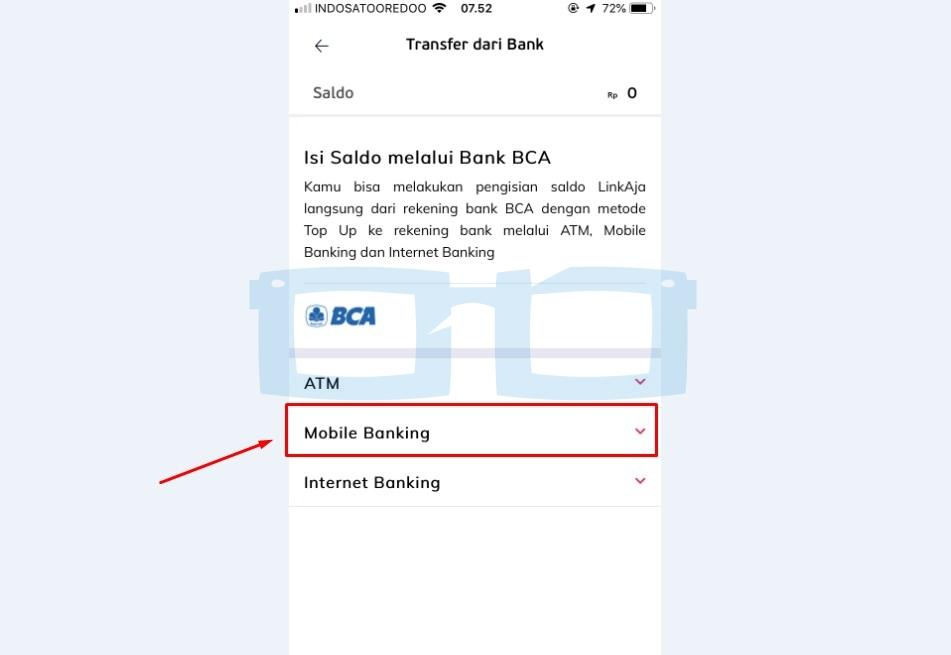 Top Up Link Aja Transfer dari Bank BCA via Mobile Banking