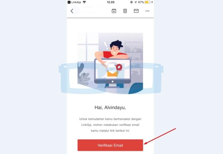Verifikasi Email Link Aja New