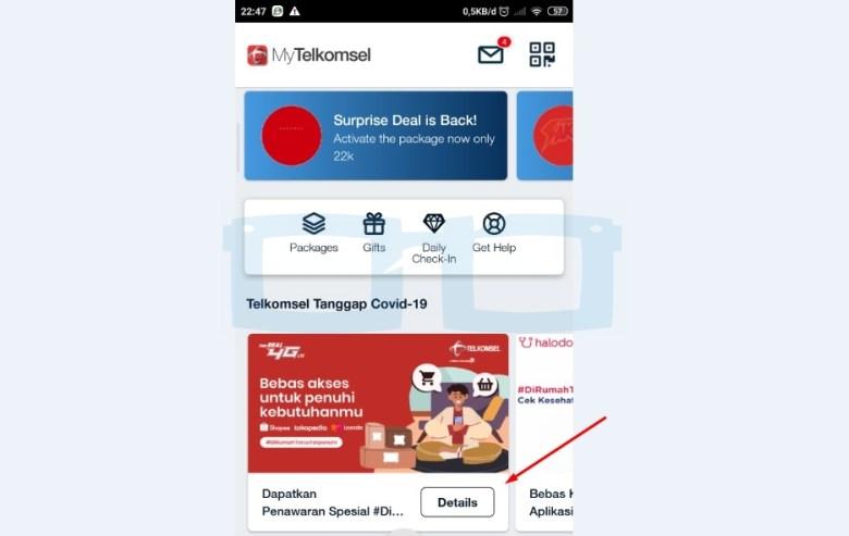 Klaim Kuota Ecommerce Telkomsel Rp 0