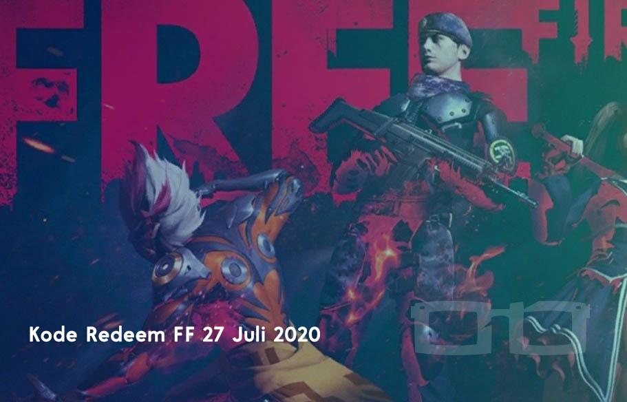 Klaim Kode Redeem FF 27 Juli 2020