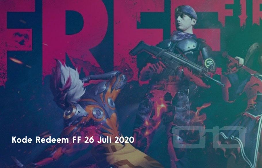 Kode Redeem FF 26 Juli 2020