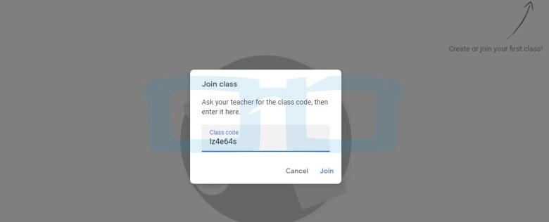 Masukan Kode Class Room