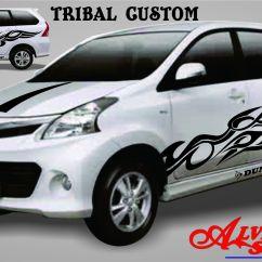 Cutting Sticker Grand New Avanza Veloz Matic Alvin Klaten Motor Mobil Contoh All Tribal