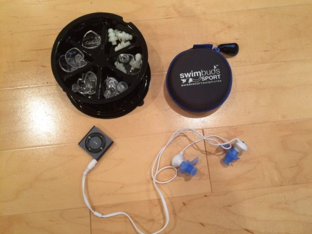 Waterproof iPod Shuffle + Underwater Audio SwimBuds
