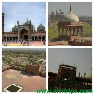 जामा मस्जिद दिल्ली के सुंदर दृश्य