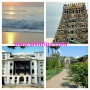 चेन्नई के दर्शनीय स्थल के सुंदर दृश्य