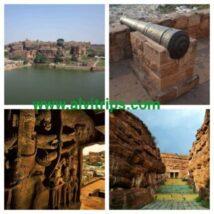 बादामी के पर्यटन स्थलों के सुंदर दृश्य