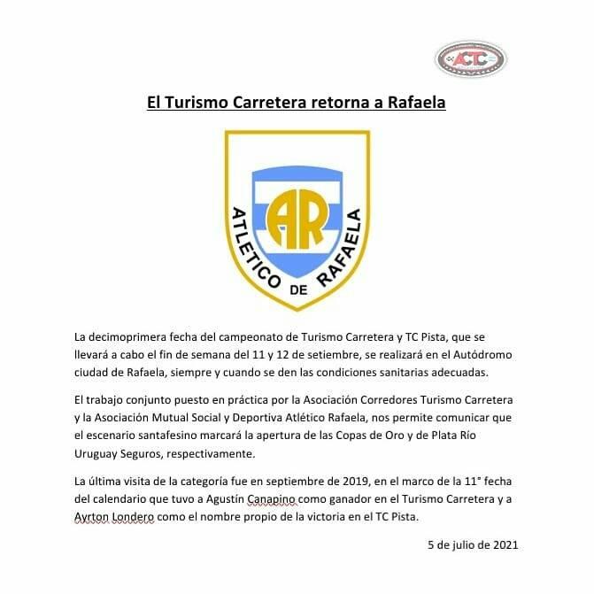 Comunicado Club Atlético Rafaela