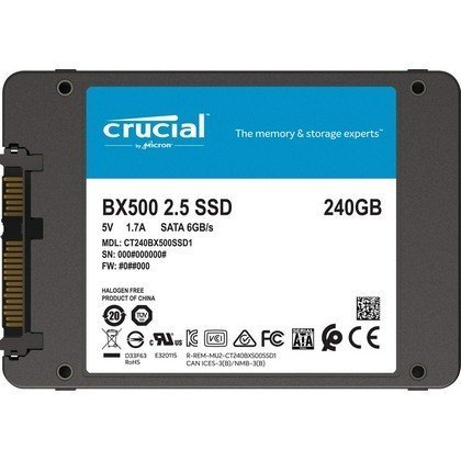 Crucial BX500 240GB NAND SATA 2.5Inch Internal CT240BX500SSD1Z