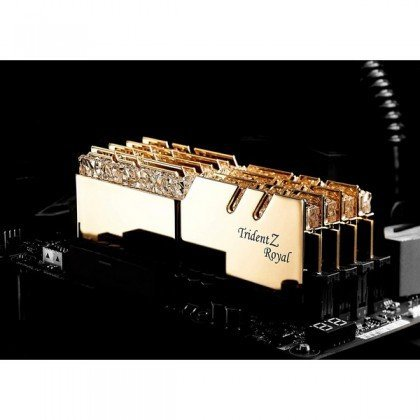 G.SKILL Trident Z Royal Series 32GB 2 X 16GB 288 Pin RGB DDR4 SDRAM DDR4 3200 PC4 25600 Desktop Memory F4 3200C16D 32GTRG