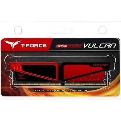 Team T Force Vulcan 8 GB DDR4 PC4 19200 2400 Gaming RAM Gray TLGD48G2400HC1401 1