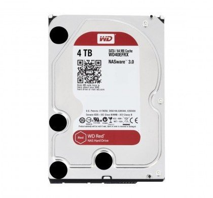 Western Digital WD Red 4TB NAS Hard Disk Drive 5400 RPM Class SATA 6 GBS 64 MB Cache 3.5 WD40EFRX