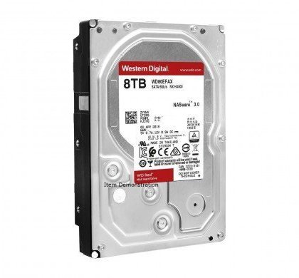 Western Digital WD Red 8TB NAS Hard Disk Drive 5400 RPM Class SATA 6 GbS 128MB Cache WD80EFZX
