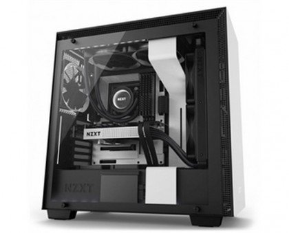 NZXT H700i Mid Tower Computer Case Black CA H700W WB