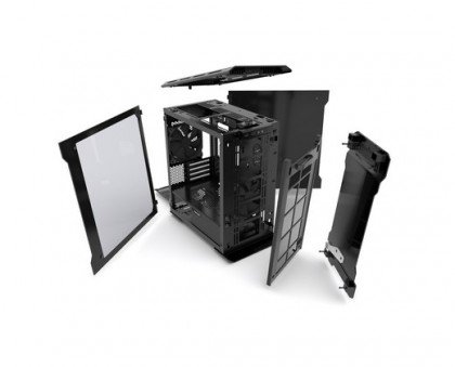 Phanteks EVOLV Micro ATX Tempered Glass Aluminum Exterior LED Case Galaxy Silver PH ES314ETG GS