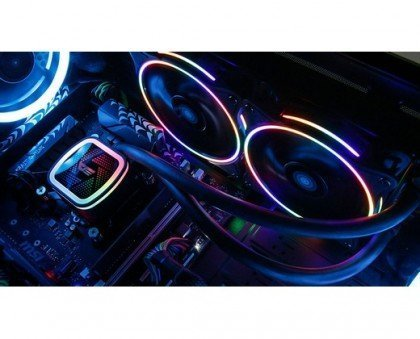 darkFlash DT240 240mm Water Liquid Cooling AIO Cooler Radiator with 120mm LED Rainbow Static Case Fan CPU Cooler DT240 Rainbow