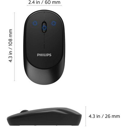 PHILIPS Wireless Mouse for Laptop PC SPK7314 blue affordable mouse
