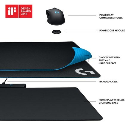 Logitech G Powerplay Wireless Charging Mouse Pad Compatible with Logitech G PRO G903 G703 G502 Lightspeed Gaming Mice Black 2
