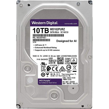 Western Digital WD Purple 10TB Surveillance Hard Drive WD102PURZ 2