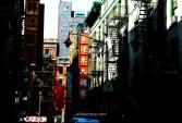 Calle de Chinatown en Nueva York