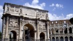 7. Arco de Constantino y coliseo roma italia. Arch coliseum rome italy