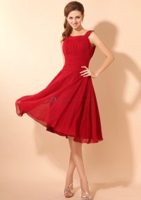 Short Dark Red Bridesmaid Dresses : 2017