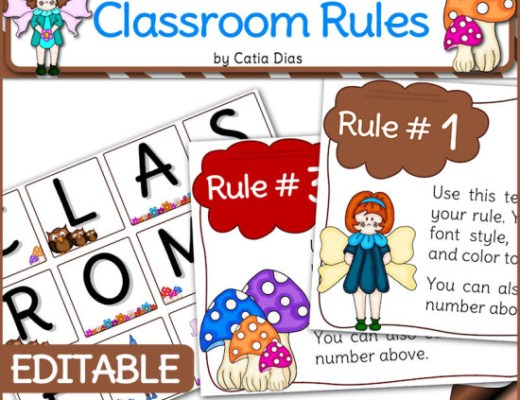 Free Classroom Rules Editable Posters