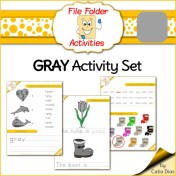 FREE gray file folder activity set