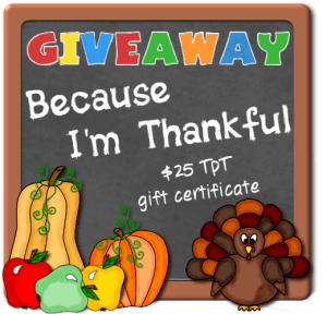Because I'm Thankful - Giveaway