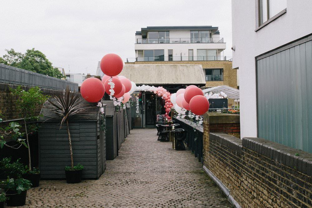 Dock kitchen wedding balloon aveneu
