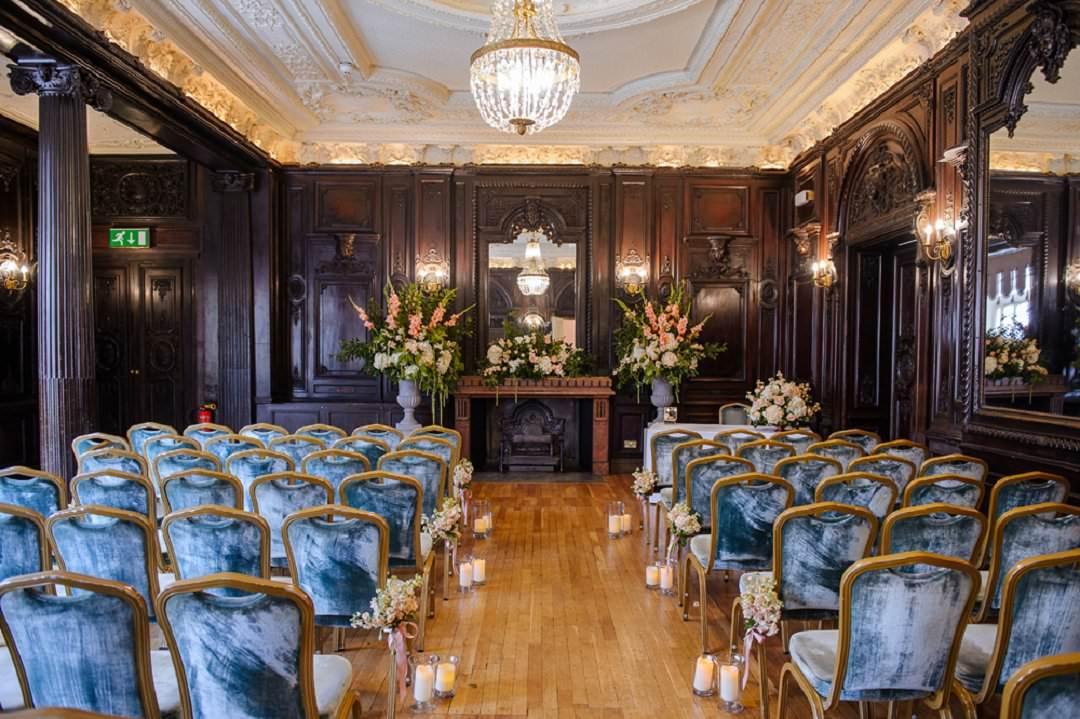 Dartmouth House London Wedding Venue ceremony set up