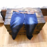 Photo of my jeans on the wooden chest