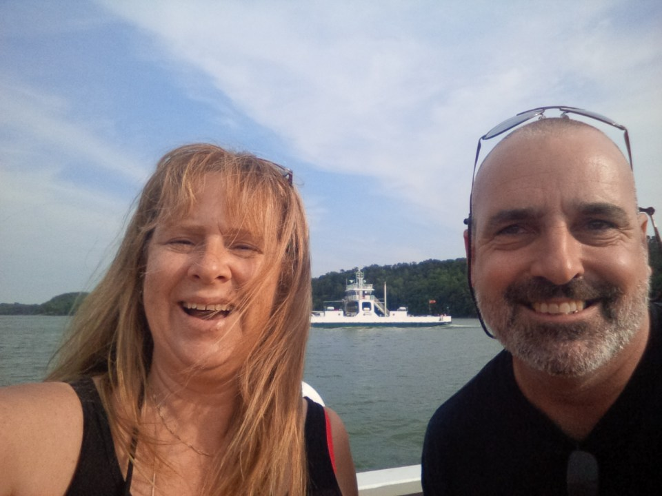 Matt and I on ferry
