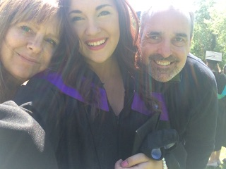 Our daughter, the new graduate