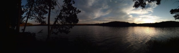 Panorama view of our campsite