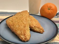 Orange Zest Scones - Gluten Free and sugar Free