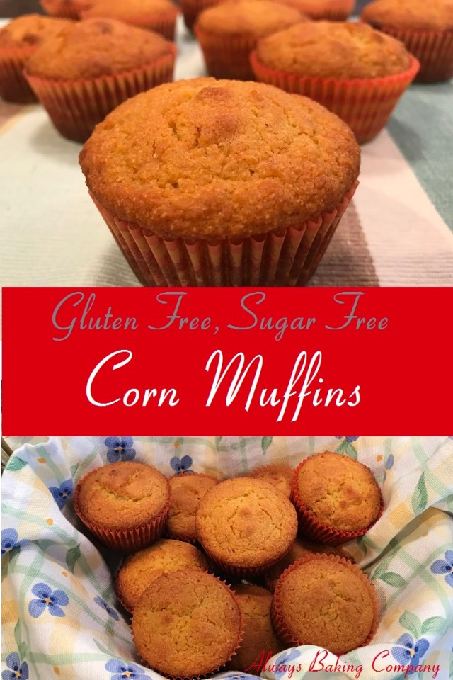 Corn Muffins that are Gluten Free and Sugar Free.  Moist and delicious!