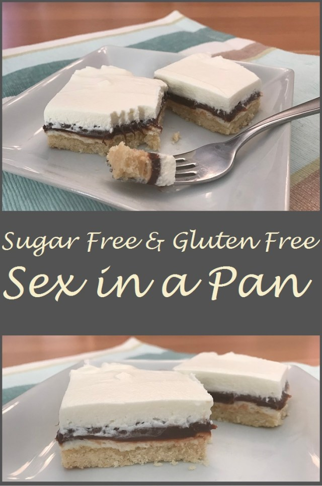 Gluten Free and Sugar Free layers of faux graham cracker crust, pillowy whipped cream, and rich chocolate pudding. Sex in a Pan.