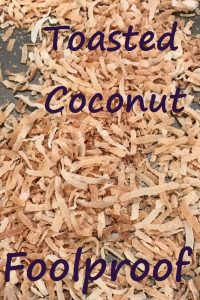 Toasted coconut for Pinterest