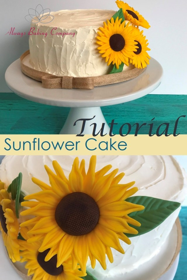 Check out how to make these brilliant (and amazingly easy) sunflowers for a rustic textured cake.