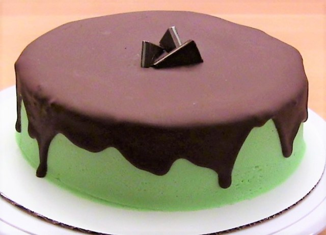 Mint Chocolate Cake with Andes Frosting