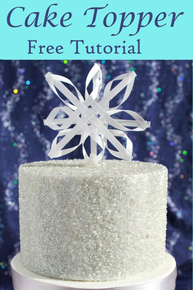 How to directions for an easy to make Snowflake cake topper for a Christmas cake or a shimmering winter cake.  Use sprinkles for added sparkle!