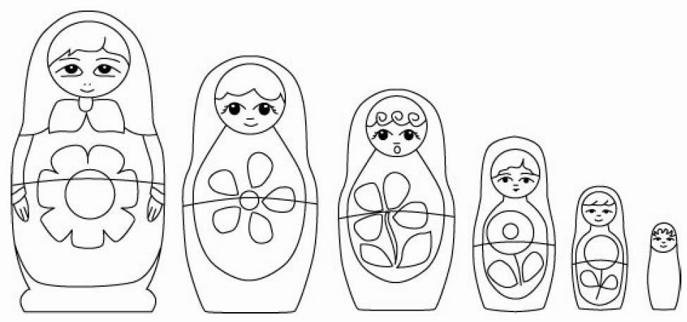 Using nesting dolls to explain the 5 Koshas or the 5