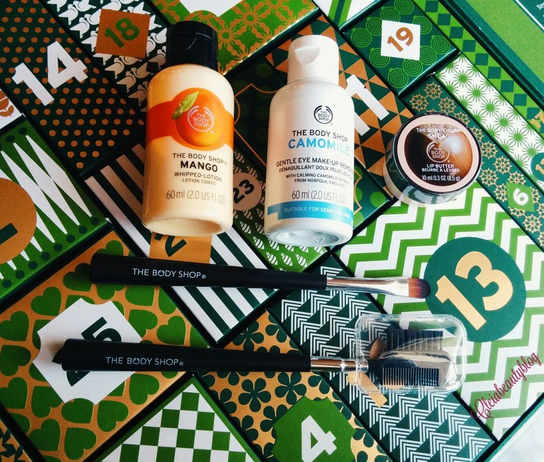 The Body Shop Advent Calendar Flatlay